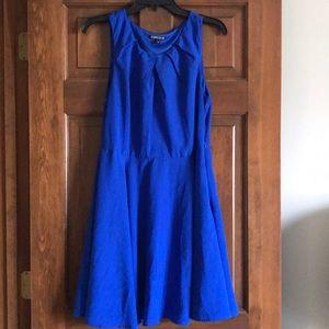 NWOT Express royal blue dress size 12